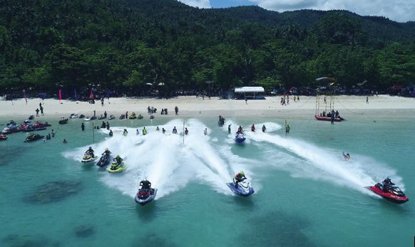 Jetski race at Gumasa Beach