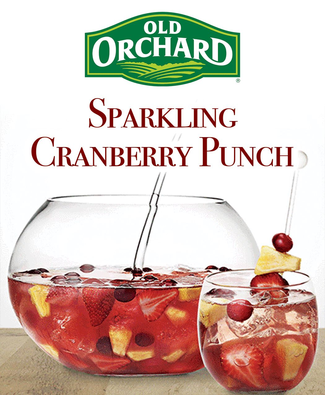 Old Orchard Cranberry Juice Holiday Mocktial