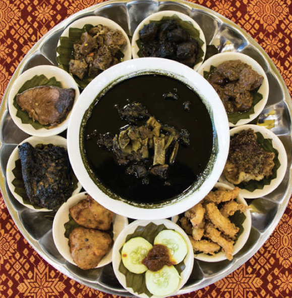 A plate of Tausug dishes called Iatal